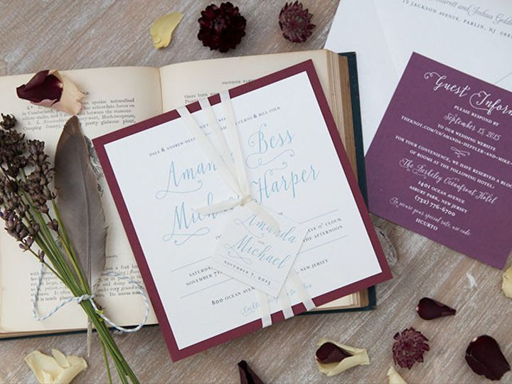 Tmx 1445352859125 Amanda And Michael Web Res 1 Matawan, New Jersey wedding invitation