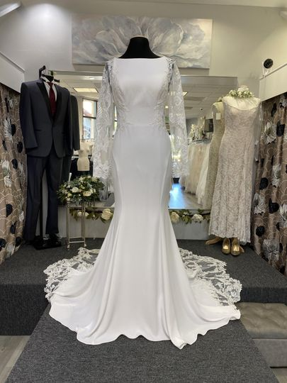 A wide selection of gowns and apparel