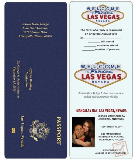 Passports are also available for Wedding Announcements.