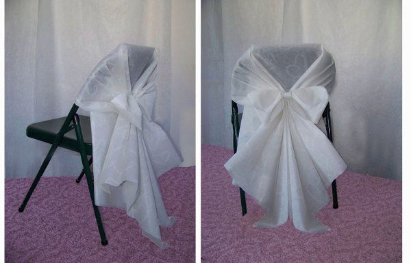 Butterfly bow Chair cover kits. Easy to put together (2pc kit) to use on folder chairs or similar...