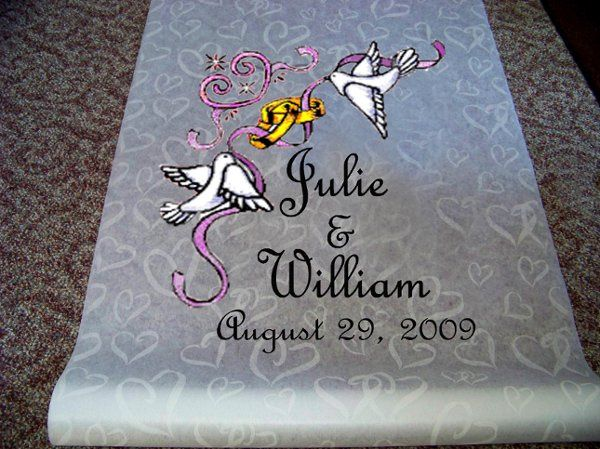 Custom Monogram aisle runners up to 100ft long. 99.00 including US shipping.