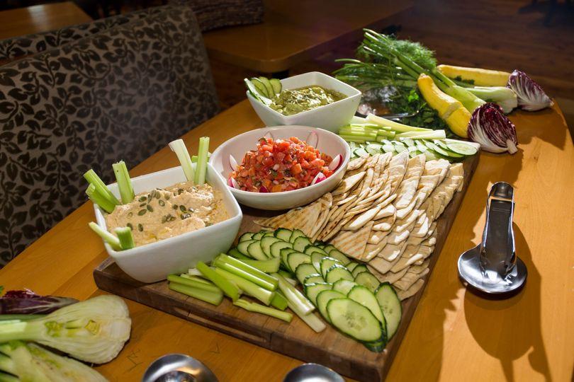 Hummus display