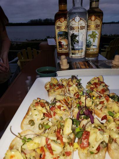 Artichoke bruschetta appetizer