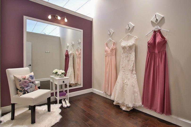 Hanged dresses