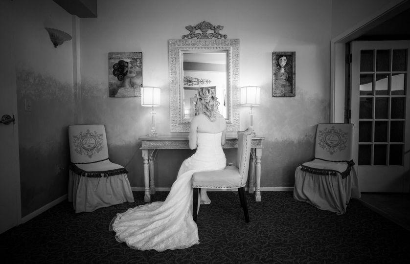 A classic bridal shot
