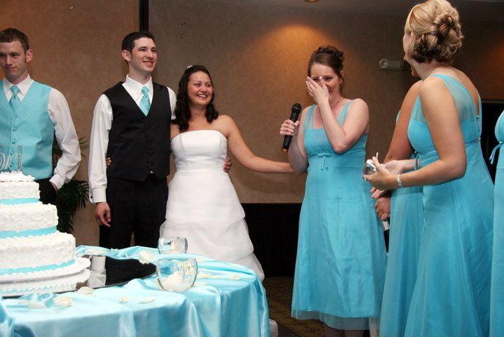 Tmx 1432685000258 Ian And Wife At Wedding Cake Bellevue wedding dj