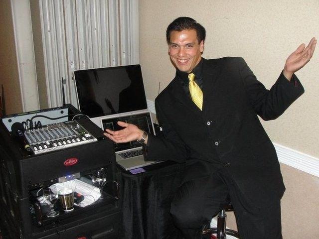 Tmx 1432685083395 Santiago Yellow Tie Arms Open Bellevue wedding dj