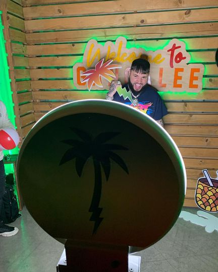 Farruko w/our Miami Boom Booth