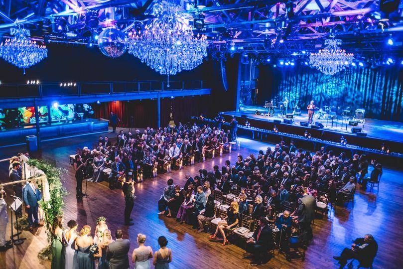 Blue reception lighting