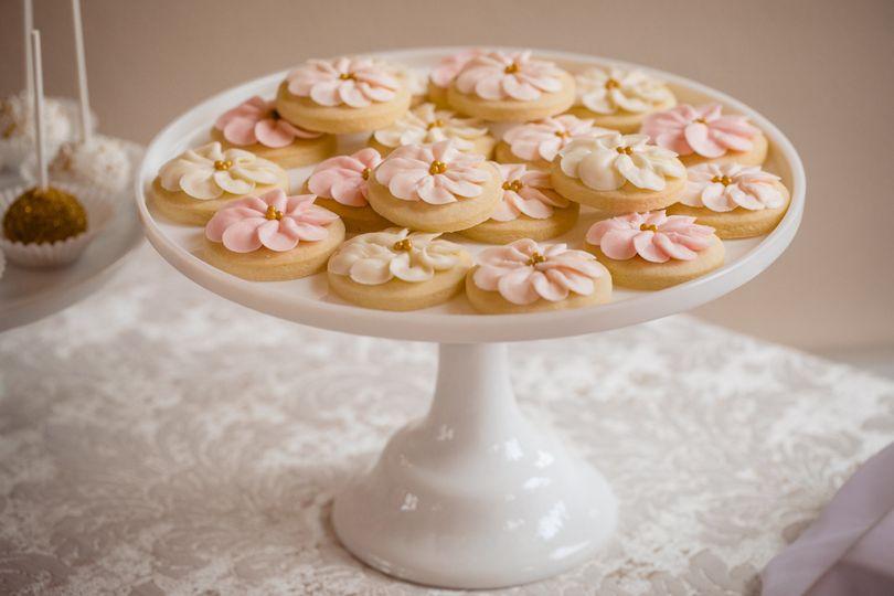 Petal flower cookies