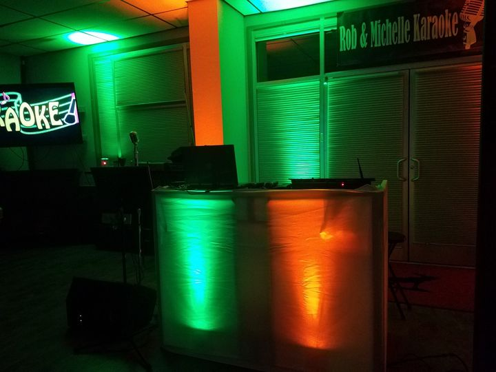 Our Booth with Lights