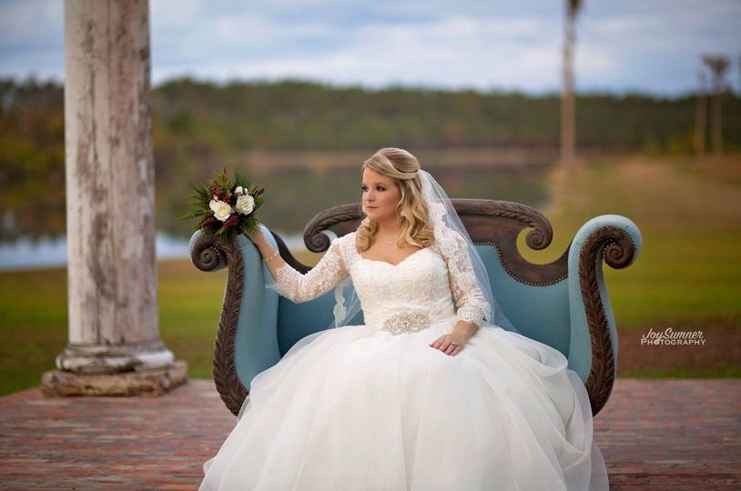 Bride on the chaise lounge