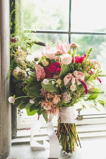 Bouquet by the window