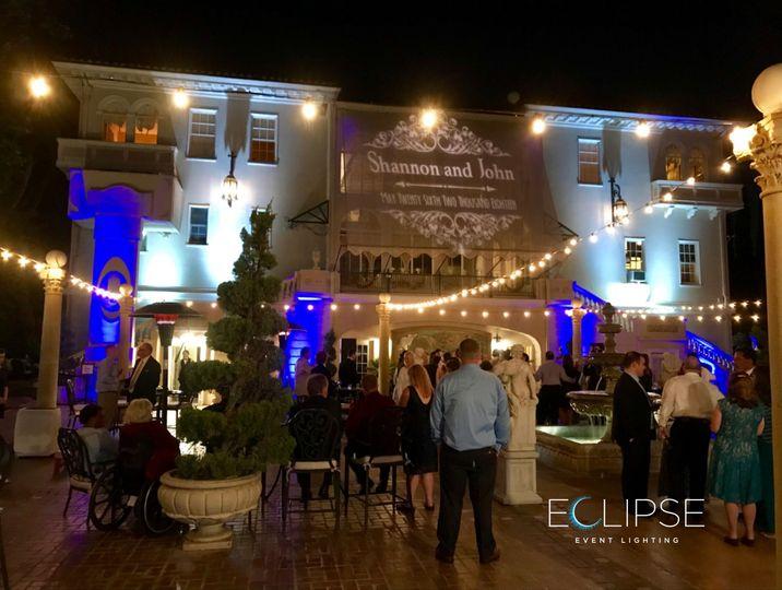 Grand Island Mansion lighting