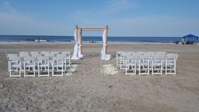 Simple beach ceremony