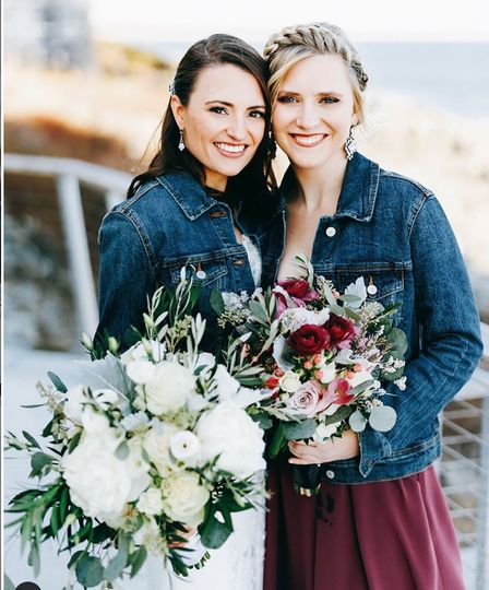 Beautiful wedding party members
