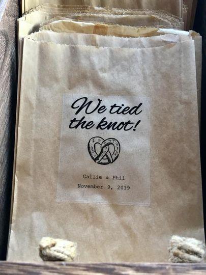 Pretzel Bag, Wedding Favor
