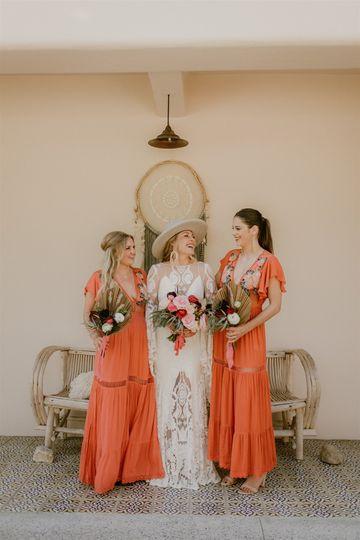 Boho bride squad