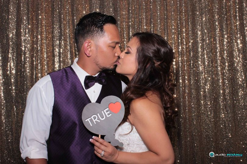 Our Bride & Groom enjoying our Photo Booth.  Taken at The Canyon View, San Ramon.  We provided DJ,...