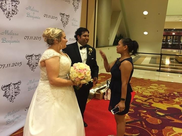 Our Certified Wedding Coordinator touching base with the Bride & Groom at the end of the night....