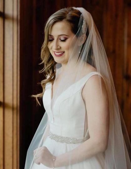 A beautiful newlywed