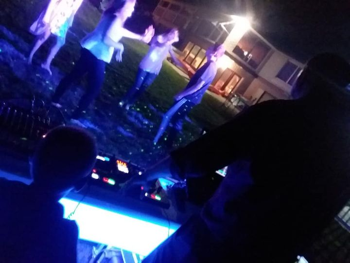 DJ working the party