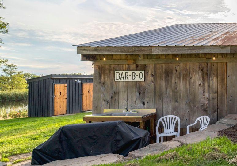 Barbecue patio