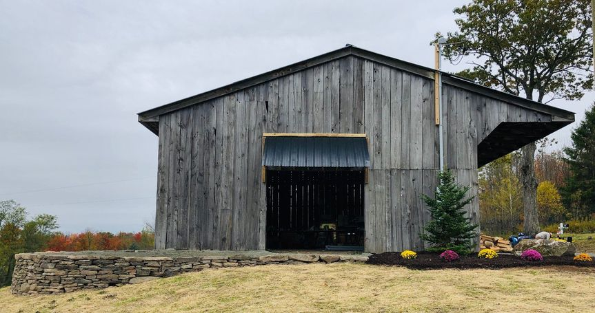 Entrance of barn