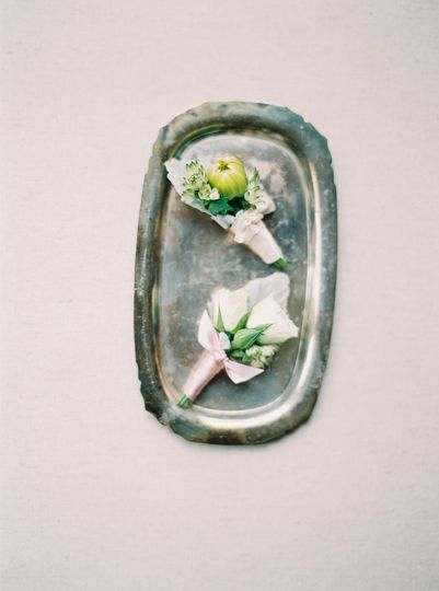 Flowers on a tray