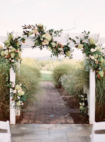 The wedding arch
