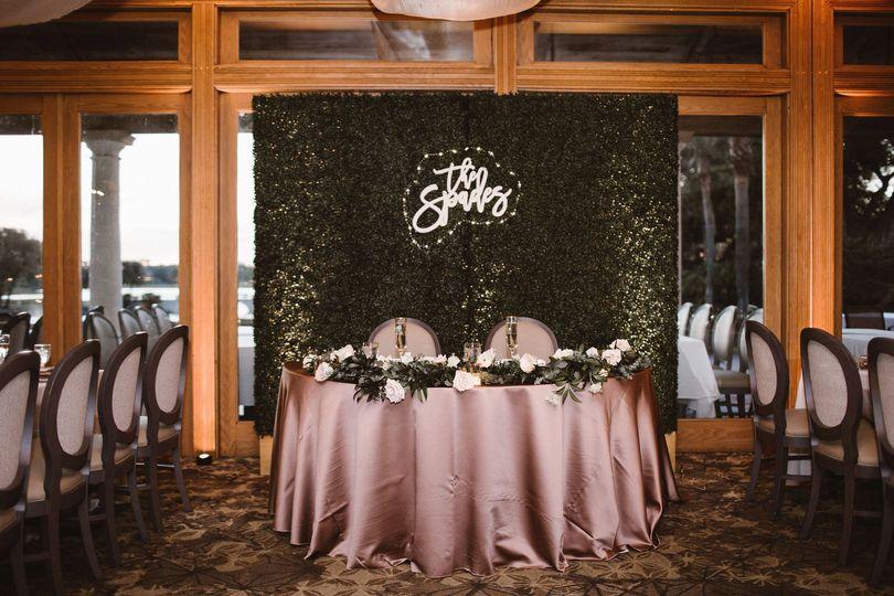 La Hacienda Reception Table