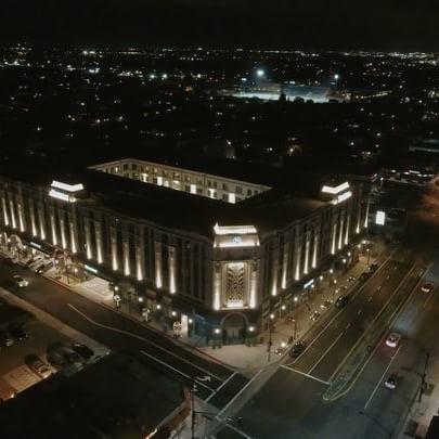 Aerial shot of hotel