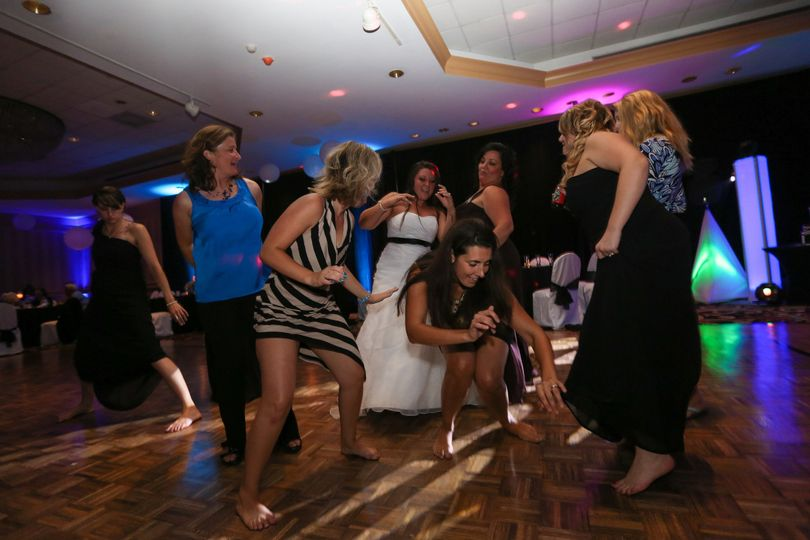 Bride and the ladies on the dance floor