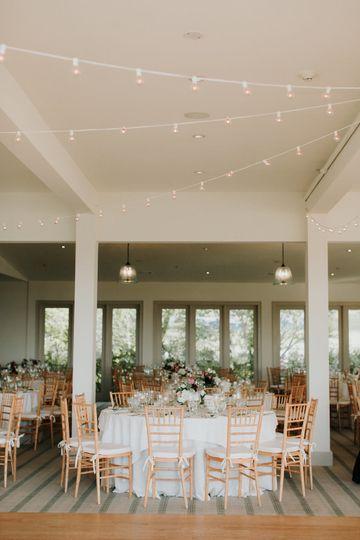 Bistro light canopy
