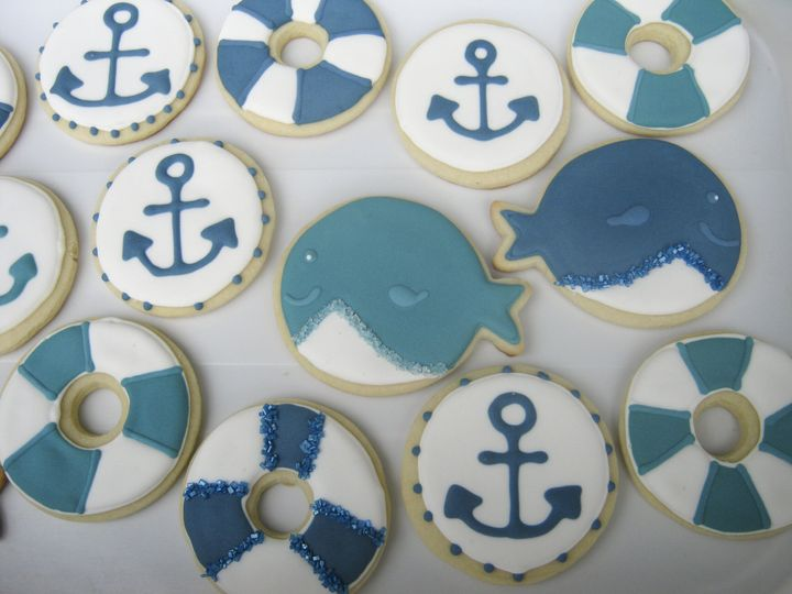 whale life rafts anchor cookie