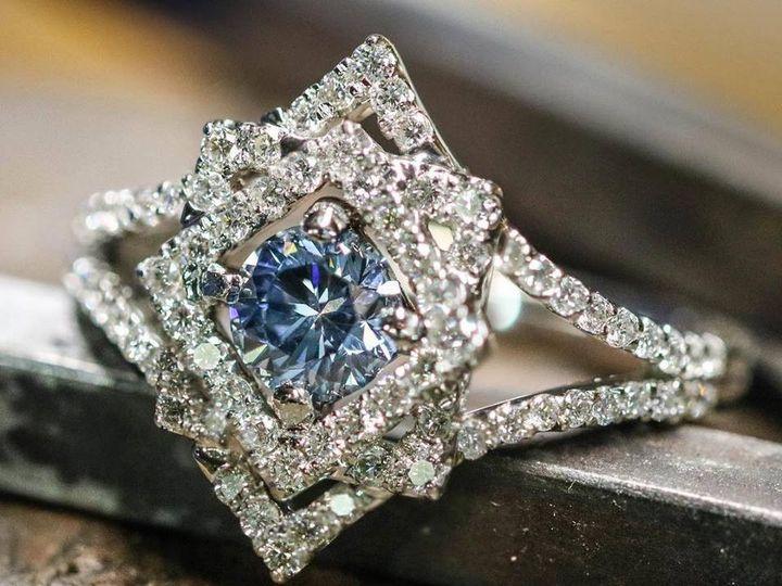 Tmx 1440008450922 Blue Dia Starburst Austin wedding jewelry