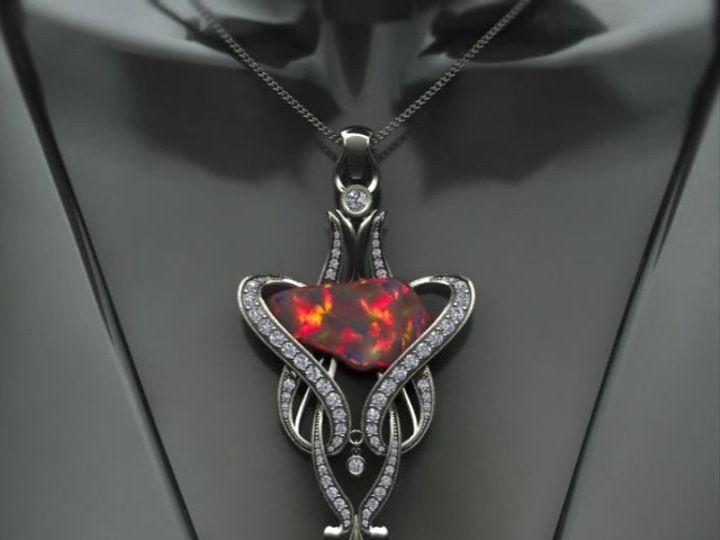 Tmx 1440008474238 Custom Opal Art Deco Austin wedding jewelry