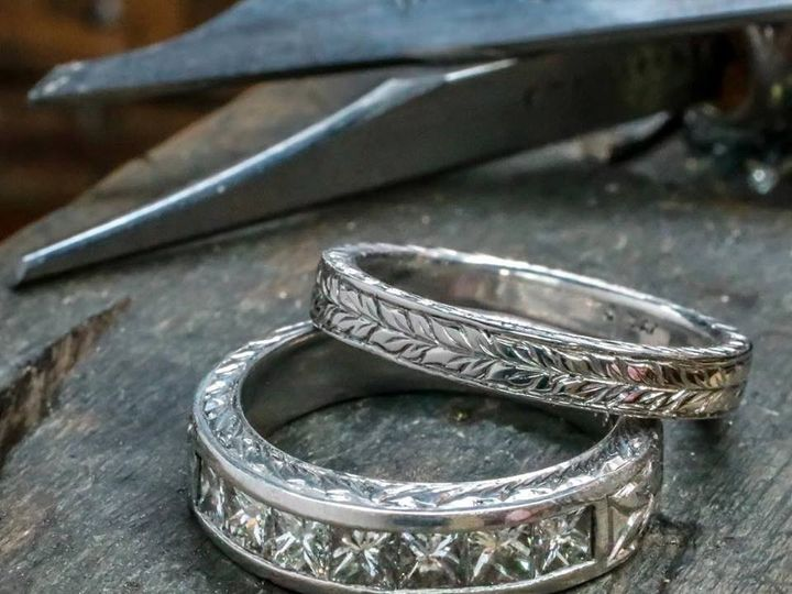 Tmx 1440008512410 Hand Engraved Matching Band Austin wedding jewelry