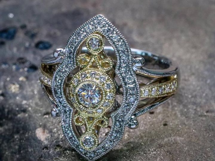 Tmx 1440008565743 Parade Two Tone Estate Ring Austin wedding jewelry