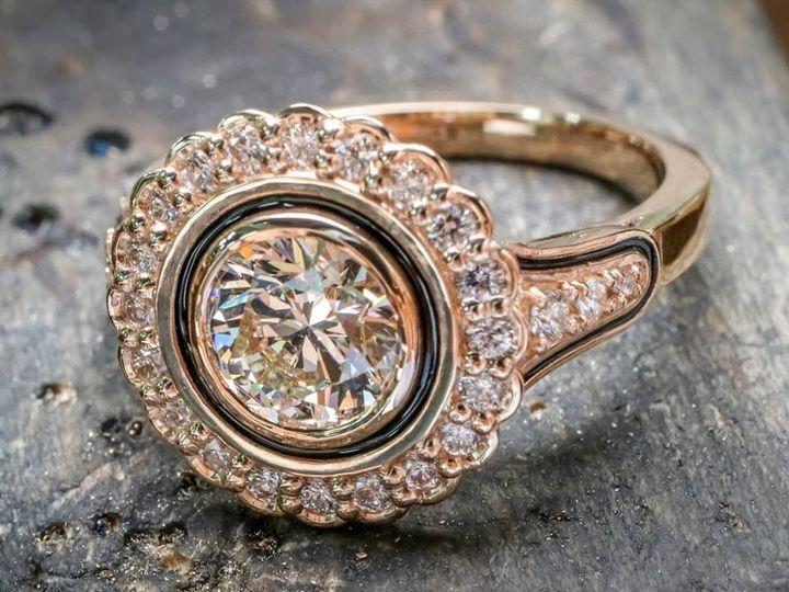 Tmx 1440008589260 Rose Gold Eng Ring Austin wedding jewelry