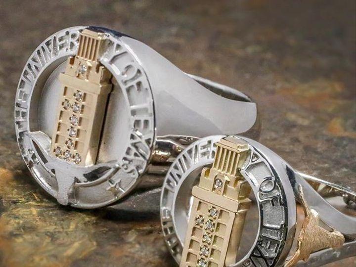 Tmx 1440008610605 Ut Tower Rings Austin wedding jewelry
