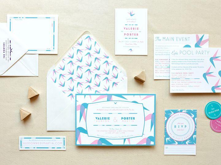 Tmx 1459308018168 My Darlin Sloane Wedding Invitations Save The Date Brooklyn wedding invitation