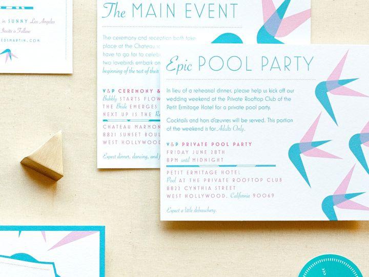Tmx 1459308022200 My Darlin Sloane Wedding Invitations Save The Date Brooklyn wedding invitation