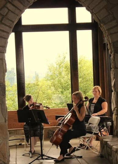 Our Piano Trio performing a wedding at the Cliffs at Glassy Chapel - Emily Blankenship, Julianna...