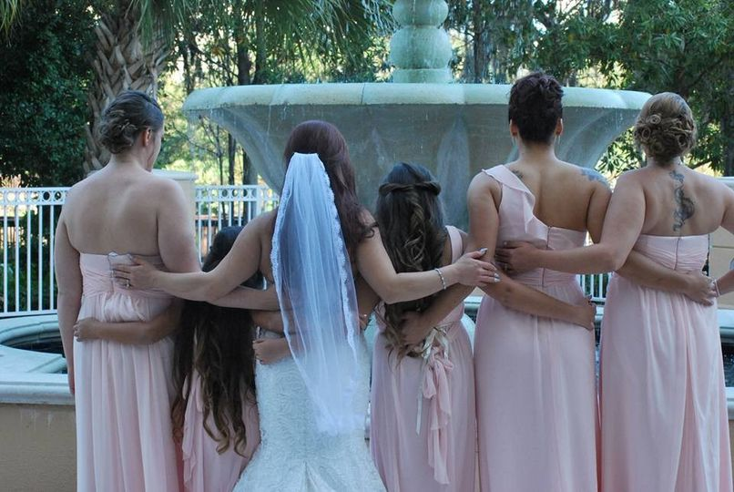 Bride and Bridesmaids by Brittany Harmening Photography in St. Petersburg