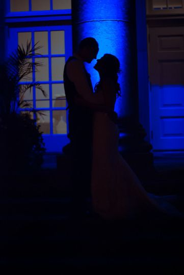 Couple's Silhouette by Brittany Harmening Photography at The Ballroom at Ellis Preserve