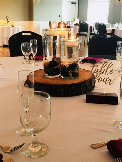 Bride Made the Centerpiece