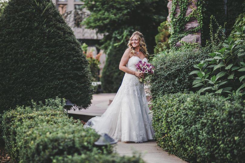 Bride at Van Dusen Mansion in Minneapolis, Minnesota