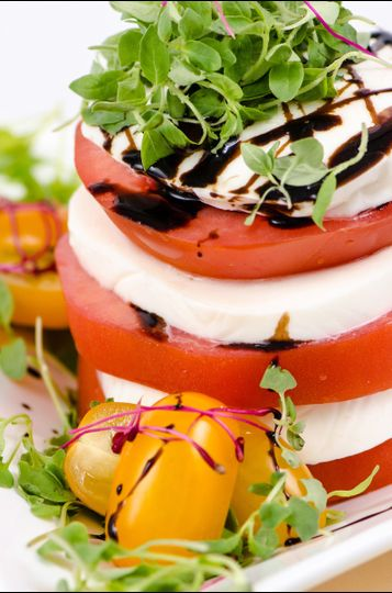 Caprese Salad Topped with Sweet Balsamic Glaze