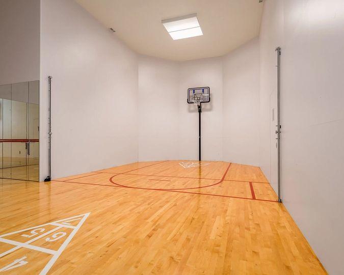 Indoor sport court & yoga area